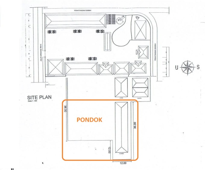 site plan Pondok MTs Negeri Gajah